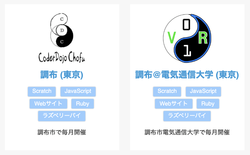 Multiple dojos in Chofu ara